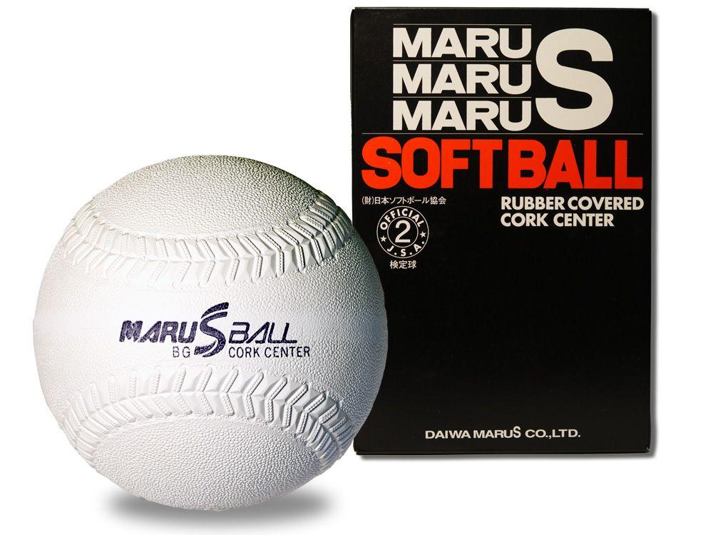 【ダイワマルエスソフトボール】ゴムソフトボール検定球2号(ホワイト)*1doz.(12個入り)単位販売*
