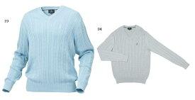 【Mizuno THE OPEN~ミズノ・ジ・オープン】ゴルフウェア(紳士)(THE OPEN長袖セーター)<カラー:シルバーグレー/サックス>(サイズ:L/LL)