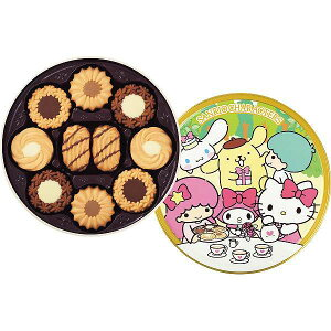 トルテクッキー缶(サンリオキャラクターズ)〈33746〉|ギフトセット|販売促進商品 販促 景品 イベント用品 法人ギフト 賞品 低額ギフト