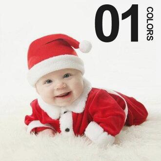 Santa costumes ♢ X'mas Christmas costume with collar separate-type 3-piece set 80 cm/90 cm / 100 cm ♢ Christmas Santa costume / baby / babies / Santa ...