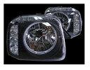 スズキジムニーJB23W 1〜10型イカリング付き ウインカーLED化リングヘッド ヘッドライト【RCP】定価\33,000(税別)