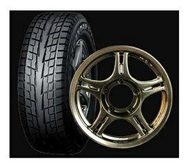 期間限定タイヤ祭り!SSJ RACING SAMURAIサムライアルミホイール&スタッドレス ヨコハマタイヤ ジオランダー IT-S G073 185/85R164本セット組換え/バランス料込み
