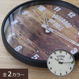 掛け時計 音がしない 連続秒針 静音 静か ブルックリンスタイル 男前インテリア ミドルサイズ 小さい時計 小さめ 25cmx25cm