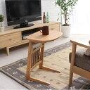 サイドテーブル 北欧 木製【Henri】アッシュの木目が優しいミニテーブル♪ナイトテーブルとしてベッドの傍らでも使えるサイドテーブル 高さ は55cmと使いやす...