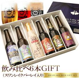 ギフト ビール クラフトビール 世界一金賞受賞 スワンレイクビール飲み比べ6本詰め合わせ(スワンレイクバーレイ入り)本州 送料込み 地ビール