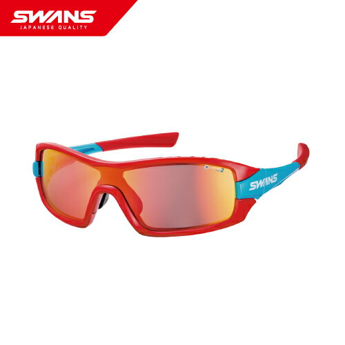 SWANS スワンズ サングラス FZ-STRIX I-4001 R/BL ストリックス・アイ 【撥水レンズ ミラーレンズ UVカット サイクル ボールスポーツ アイウェア SWANS公式ショップ スポーツ アウトドア 自転車 ゴーグル アクセサリー】