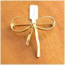 ルチカ Luccica ファルベ farbe ribbon brooch【ブローチ】 ゴールド リボン マット 大きい 大人 ブローチ…
