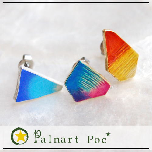 パルナートポック Palnart Poc フローライト ピアス美しいグラデーションを持つ鉱石フローライトをモチーフにしたアクセサリーピアス【グラデーション】 BroughSuperior ブラフシューペリア