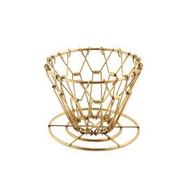 キッカーランド KIKKERLAND ブラスコラプシブルコーヒードリッパー 真鍮 ゴールド Brass Collapsible Coffee Dripper キャンプ コーヒー 折り畳み ドリッパー