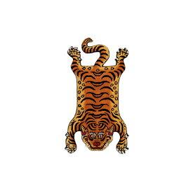 ディテール DETAIL チベタンタイガーラグ DTTR-02 赤 スモール Tibetan Tiger Rug Small カーペット 玄関 マット 絨毯 ラグ