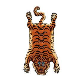 ディテール DETAIL チベタンタイガーラグ DTTR-01 青 ラージ Tibetan Tiger Rug Large カーペット 玄関 マット 絨毯 ラグ