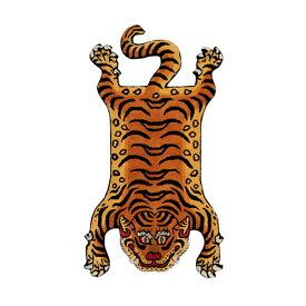 ディテール DETAIL チベタンタイガーラグ DTTR-02 赤 ラージ Tibetan Tiger Rug Large カーペット 玄関 マット 絨毯 ラグ
