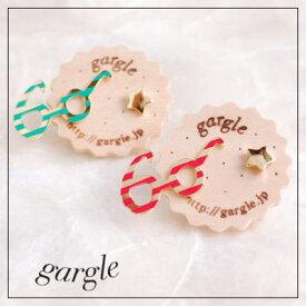 【gargle/ガーグル】lunettes ピアス メガネ(サングラス)と星をモチーフにしたアクセサリーDM便可能 【眼鏡 スター】  qqpq