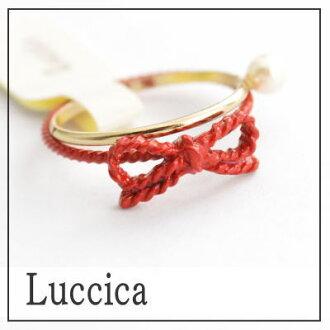 沒有財富蝴蝶結小指安排小指環紅色的線配飾真的可愛的戒指紅蝴蝶結ribon細的5號10P18Jun16