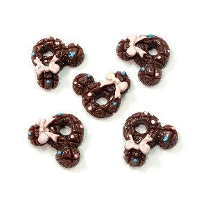 ねずみ型ココアチョコクッキー 5個セット★スイーツデコパーツ ビスケット ネズミ くま クマ ドーナツ