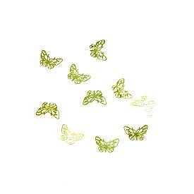 レジンやネイルアートに!「バタフライ」 極薄メタルパーツ 10枚セット 両面メッキ 蝶 ちょうちょ n7【RCP】