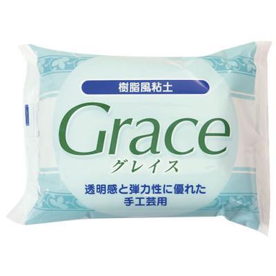 (ka5) グレイス Grace 200g ねんど 樹脂風粘土 粘土細工 クレイアート クレイクラフト 半透明 透明