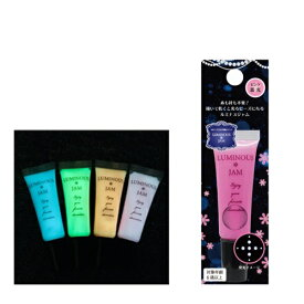 (KA37) ルミナスジャム 蓄光ピンク 描いて乾かすだけの簡単デコレーション ペイント クラフト 布デコ 手芸 ラインストーン風