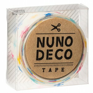 (KA11-860) ヌノデコテープ 【しろいカラフルスター】 幅1.5cm 布デコ 名前テープ ハンドメイド 手芸 ネーム 布製 布マスキングテープ 予約販売商品