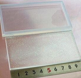 (S83)シリコンモールド 長方形プレート 特大 100×50mm 四角い 板 ネームプレート 土台 レジンや樹脂粘土での作製に