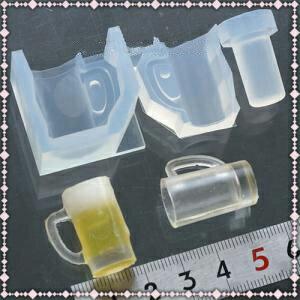 (S187)シリコンモールド立体グラスジョッキ