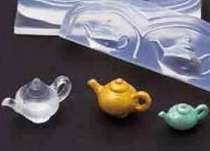 (ka113) シリコンモールド クレイジュエリー ティーポット ミニ 食器 立体型 レジン 粘土
