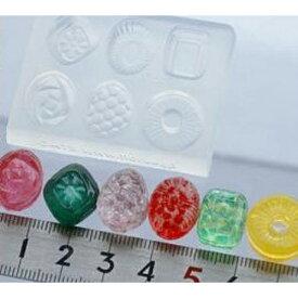 (S16)シリコンモールド キャンディー型/小さいサイズドロップ 6種 飴 アメ レジンに