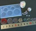 (S246) シリコンモールド ガラスボール ドーム 専用 底ふたパーツ カン付き サークル ラウンド 丸 円 蓋