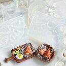 (S968)シリコンモールドキッチン雑貨シナモンロール菓子パンサークル丸型5サイズ立体型レジンや粘土に