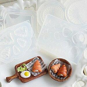 (S968)シリコンモールド キッチン雑貨 シナモンロール 菓子パン サークル 丸型 5サイズ 立体型 食玩 レジンや樹脂粘土でのフェイクフード作りに