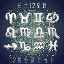 (744)【ミニ星座パーツ】12星座全部セットミニチュアパーツレジンやネイルの封入パーツ