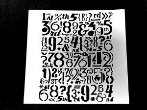 (SST106)【アウトレット】ステンシル プレート 数字プレート ナンバー フェラテアート ペーパークラフトやクッキーのデコレーションに