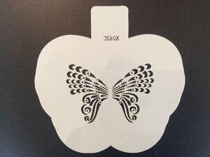(SST50)【アウトレット】ステンシル プレート 蝶L ペーパークラフトやお菓子のデコレーションに