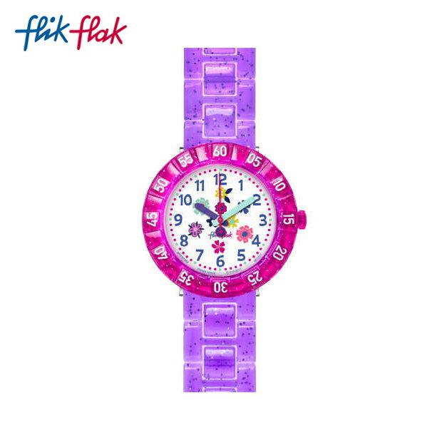 【公式ストア】Flik Flak フリックフラック PURPLE GARDEN パープル・ガーデン FCSP060Swatch(スウォッチ) Power Time 7+(パワータイム7+) 【送料無料】(素材)ベルト:プラスチックキッズ/ガールズ/腕時計/人気/定番/プレゼント