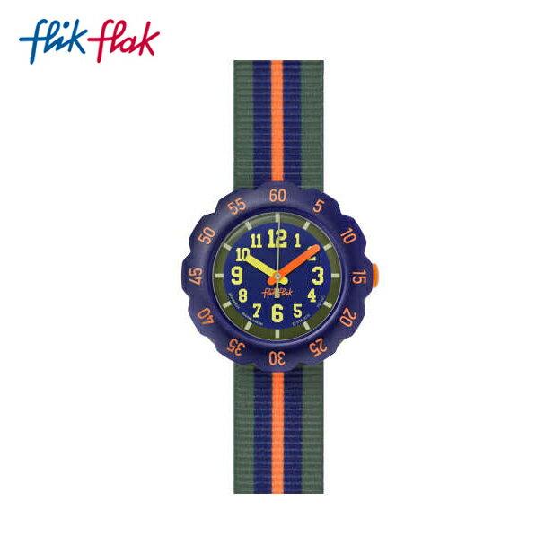 【公式ストア】Flik Flak フリックフラック ORANGE LINE オレンジ・ライン FPSP021Swatch(スウォッチ) Power Time 5+(パワータイム5+) 【送料無料】(素材)ベルト:ファブリック/ケース:プラスチックキッズ/ボーイズ/腕時計/人気/定番/プレゼント