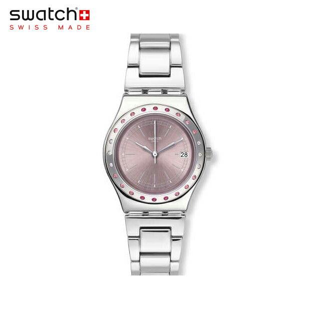 【公式ストア】Swatch スウォッチ PINKAROUND ピンクアラウンド YLS455GIrony(アイロニー) Irony Medium(アイロニーミディアム) 【送料無料】(素材)ベルト:ステンレススチール(調節可能)レディース/腕時計/人気/定番/プレゼント