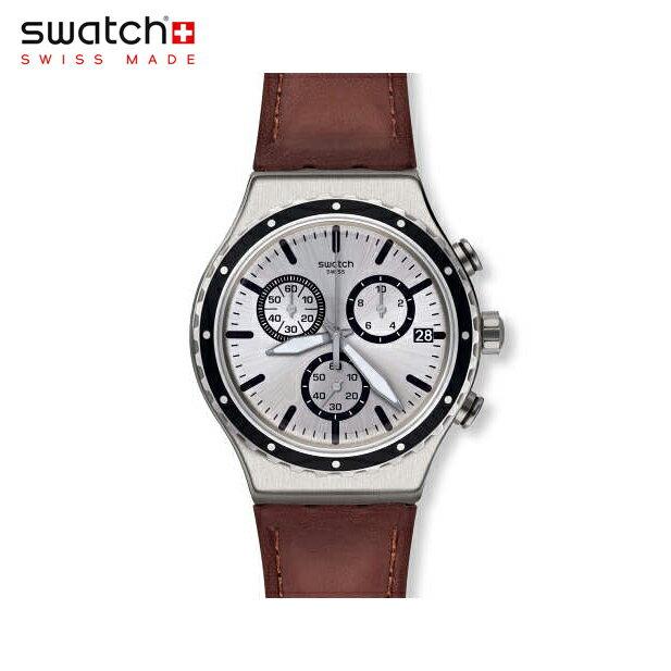 【公式ストア】Swatch スウォッチ GRANDINO グランイーノ YVS437Irony(アイロニー) New Irony Chrono(ニューアイロニークロノ) 【送料無料】(素材)ベルト:レザー ケース:ステンレススチールメンズ 腕時計 人気 定番 プレゼント