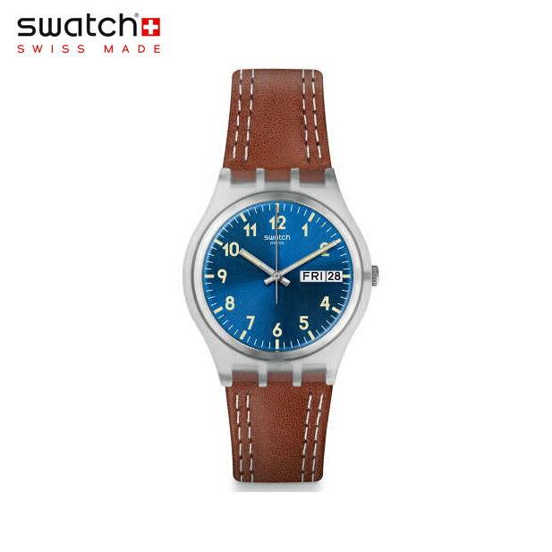 【公式ストア】Swatch スウォッチ WINDY DUNE ウィンディ・デューン GE709Originals(オリジナルズ) Gent(ジェント) 【送料無料】(素材)ベルト:レザー ケース:プラスチックメンズ 腕時計 人気 定番 プレゼント