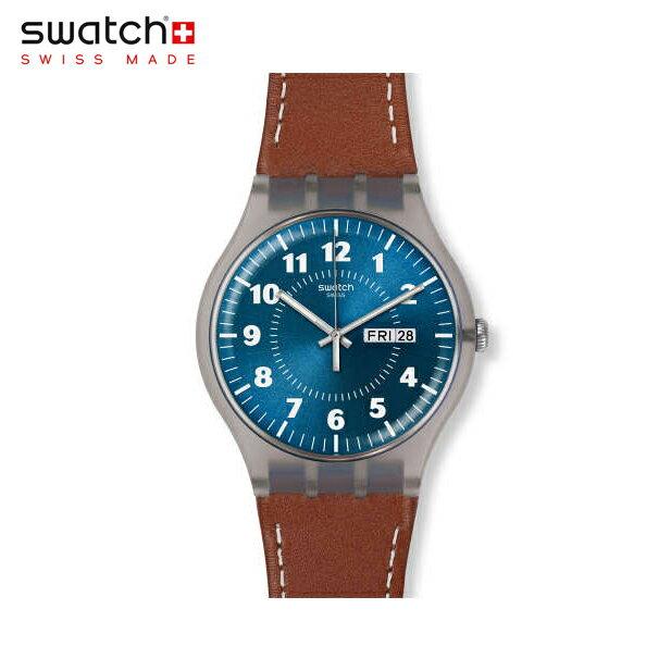 【公式ストア】Swatch スウォッチ VENT BRULANT ベント・ブルラント SUOK709Originals(オリジナルズ) New Gent(ニュージェント) 【送料無料】(素材)ベルト:レザー/ケース:プラスチックメンズ/腕時計/人気/定番/プレゼント