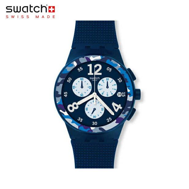 【公式ストア】Swatch スウォッチ CAMOBLU カモブルー SUSN414Originals(オリジナルズ) New Chrono Plastic(ニュークロノプラスチック) 【送料無料】(素材)ベルト:シリコン/ケース:プラスチックメンズ/腕時計/人気/定番/プレゼント