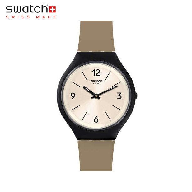 【公式ストア】Swatch スウォッチ SKINSAND スキンサンド SVUB101Skin(スキン) Skin Big(スキンビッグ) 【送料無料】(素材)ベルト:レザー ケース:プラスチックメンズ 腕時計 人気 定番 プレゼント
