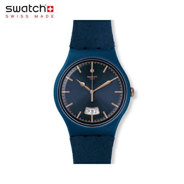 【公式ストア】Swatch スウォッチ CENT BLEU セント・ブルー SUON400Originals(オリジナルズ) New Gent(ニュージェント) 【送料無料】(素材)ベルト:合成レザー/レザー/ケース:プラスチックメンズ/レディース/腕時計/人気/定番/プレゼント