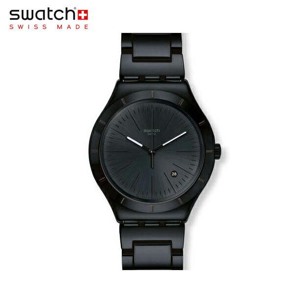 【公式ストア】Swatch スウォッチ NOIR INTENSE ノア・インテンス YWB404GIrony(アイロニー) Irony Big Classic(アイロニービッグクラシック) 【送料無料】(素材)ベルト:ステンレススチール(調節可能)メンズ 腕時計 人気 定番 プレゼント 父の日