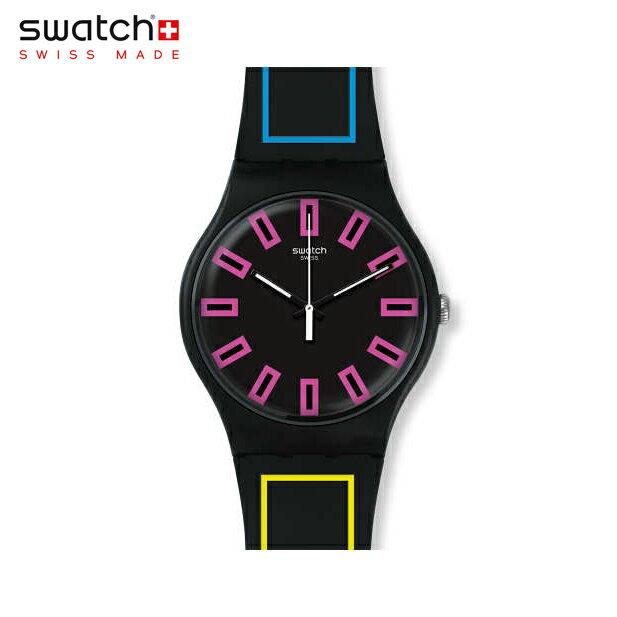 【公式ストア】Swatch スウォッチ AROUND THE STRAP アラウンド・ザ・ストラップ SUOB146Originals(オリジナルズ) New Gent(ニュージェント) 【送料無料】(素材)ベルト:シリコン ケース:プラスチックメンズ 腕時計 人気 定番 プレゼント