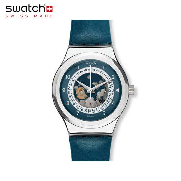 【公式ストア】Swatch スウォッチ SISTEM THROUGH システム・スルー YIS417Irony(アイロニー) Sistem51 Irony(システム51アイロニー) 【送料無料】(素材)ベルト:レザー ケース:ステンレススチールメンズ 腕時計 人気 定番 プレゼント 父の日