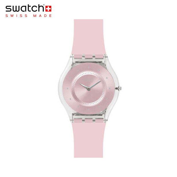 【公式ストア】Swatch スウォッチ PINK PASTEL ピンク・パステル SFE111Skin(スキン) Skin Classic(スキンクラシック) 【送料無料】(素材)ベルト:シリコン ケース:プラスティックレディース 腕時計 人気 定番 プレゼント