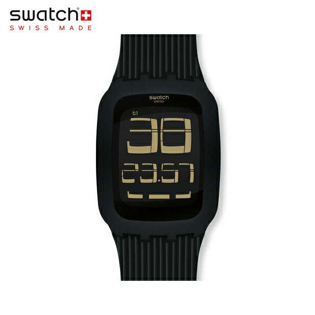 【公式ストア】Swatch スウォッチ ISWATCH BLACK DISTRICT アイスウォッチ・ブラック・ディストリクト SURB112CDigital(デジタル) Tough(タッチ) 【送料無料】(素材)ベルト:シリコン ケース:プラスティックメンズ 腕時計 人気 定番 プレゼント 父の日