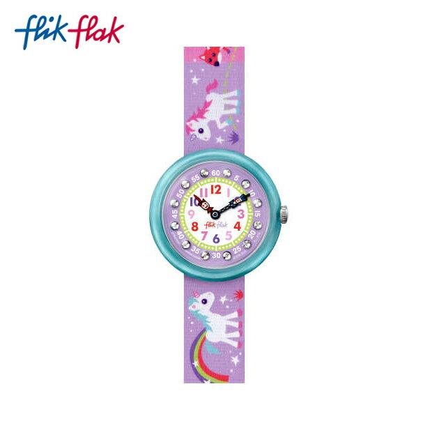 【公式ストア】Flik Flak フリックフラック MAGICAL UNICORNS マジカル・ユニコーン FBNP033 Swatch(スウォッチ) Story Time(ストーリータイム) 【送料無料】(素材)ベルト:繊維 ケース:プラスティックキッズ ガールズ 腕時計 人気 定番 プレゼント