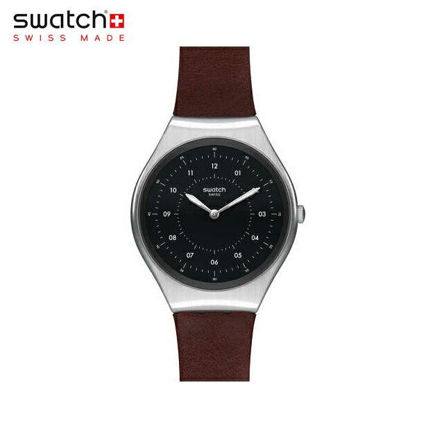 【公式ストア】Swatch スウォッチ SKINBRUSHED スキンブラッシュド SYXS102SKIN(スキン) SKIN Irony(スキンアイロニー) 【送料無料】(素材)ベルト:皮革 ケース:ステンレススチールメンズ 腕時計 人気 定番 プレゼント