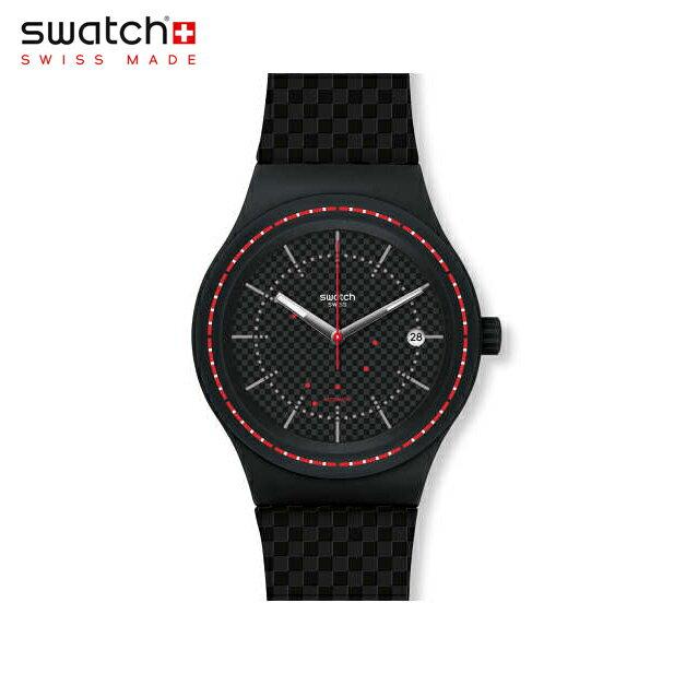 【公式ストア】Swatch スウォッチ SISTEM DAMIER システム・ダミエ SUTB406sistem51(システム51) Sistem51(システム51) 【送料無料】(素材)ベルト:シリコン ケース:プラスチックメンズ 腕時計 人気 定番 プレゼント
